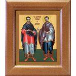 Бессребреники Косма и Дамиан Азийские, широкая рамка 14,5*16,5 см - Иконы