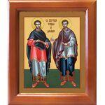 Бессребреники Косма и Дамиан Азийские, икона в рамке 12,5*14,5 см - Иконы