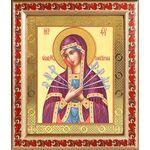 Икона Божией Матери «Семистрельная», в рамке с узором 19*22,5 см - Иконы