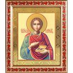 Великомученик и целитель Пантелеимон, в рамке с узором 19*22,5 см - Иконы