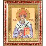 Святитель Спиридон Тримифунтский, широкая рамка с узором 19*22,5 см - Иконы