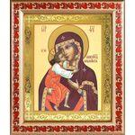 Феодоровская икона Божией Матери, рамка с узором 19*22,5 см - Иконы