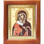 Феодоровская икона Божией Матери, деревянная рамка 12,5*14,5 см - Иконы