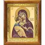 Владимирская икона Божией Матери, деревянная рамка 17,5*20,5 см - Иконы