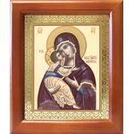 Владимирская икона Божией Матери, деревянная рамка 12,5*14,5 см - Иконы