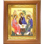 Святая Троица, икона в широкой деревянной рамке 19*22,5 см - Иконы