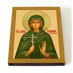 Мученица Иулиания Россонская, икона на доске 13*16,5 см - Иконы