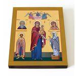 Максимовская икона Божией Матери, печать на доске 13*16,5 см - Иконы