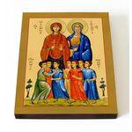 Семь мучеников Маккавеев, Соломония и Елеазар, на доске 13*16,5 см - Иконы