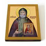 Преподобный Феодосий Тотемский, печать на доске 13*16,5 см - Иконы
