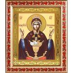 """Икона Божией Матери """"Неупиваемая Чаша"""", в рамке с узором 19*22,5 см - Иконы"""