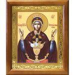 """Икона Божией Матери """"Неупиваемая Чаша"""", деревянная рамка 17,5*20,5 см - Иконы"""