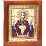 """Икона Божией Матери """"Неупиваемая Чаша"""", деревянная рамка 12,5*14,5 см - Иконы"""