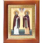 Благоверные князья Петр и Феврония Муромские, рамка 12,5*14,5 см - Иконы