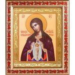 """Икона Божией Матери """"Помощница в родах"""", в рамке с узором 19*22,5 см - Иконы"""