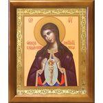 """Икона Божией Матери """"Помощница в родах"""", деревянная рамка 17,5*20,5 см - Иконы"""