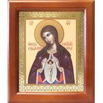 """Икона Божией Матери """"Помощница в родах"""", деревянная рамка 12,5*14,5 см - Иконы"""
