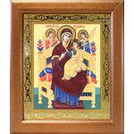 """Икона Божией Матери """"Всецарица"""", широкая деревянная рамка 19*22,5 см - Иконы"""