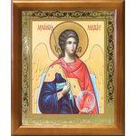 Михаил Архангел, Архистратиг, икона в деревянной рамке 17,5*20,5 см - Иконы