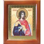 Михаил Архангел, Архистратиг, икона в деревянной рамке 12,5*14,5 см - Иконы