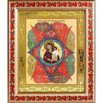 """Икона Божией Матери """"Неопалимая Купина"""", в рамке с узором 19*22,5 см - Иконы"""