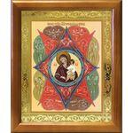 """Икона Божией Матери """"Неопалимая Купина"""", деревянная рамка 17,5*20,5 см - Иконы"""