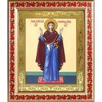 """Икона Божией Матери """"Нерушимая Стена"""", в рамке с узором 19*22,5 см - Иконы"""