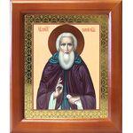 Преподобный Сергий Радонежский, икона в деревянной рамке 12,5*14,5 см - Иконы