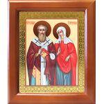 Священномученик Киприан и мученица Иустина, рамка 12,5*14,5 см - Иконы