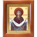 Покров Пресвятой Богородицы, икона в деревянной рамке 12,5*14,5 см - Иконы