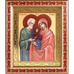 Праведные Иоаким и Анна, икона в широкой рамке с узором 19*22,5 см - Иконы