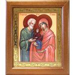 Праведные Иоаким и Анна, икона в широкой деревянной рамке 19*22,5 см - Иконы