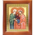 Праведные Иоаким и Анна, икона в деревянной рамке 12,5*14,5 см - Иконы