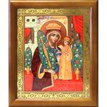 """Икона Божией Матери """"Неувядаемый Цвет"""", деревянная рамка 17,5*20,5 см - Иконы"""