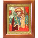 """Икона Божией Матери """"Неувядаемый Цвет"""", деревянная рамка 12,5*14,5 см - Иконы"""