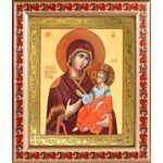 Иверская икона Божией Матери, широкая рамка с узором 19*22,5 см - Иконы