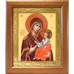 Иверская икона Божией Матери, широкая деревянная рамка 19*22,5 см - Иконы