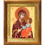 Иверская икона Божией Матери, деревянная рамка 17,5*20,5 см - Иконы