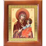 Иверская икона Божией Матери, деревянная рамка 12,5*14,5 см - Иконы