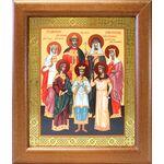 Святые царственные страстотерпцы, икона в широкой рамке 19*22,5 см - Иконы
