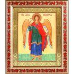Ангел Хранитель ростовой, икона в широкой рамке с узором 19*22,5 см - Иконы