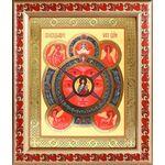 Всевидящее Око Господне, икона в широкой рамке с узором 19*22,5 см - Иконы