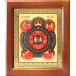 Всевидящее Око Господне, икона в деревянной рамке 12,5*14,5 см - Иконы