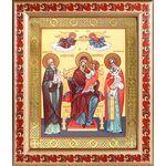 """Икона Божией Матери """"Экономисса"""", широкая рамка с узором 19*22,5 см - Иконы"""