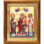 """Икона Божией Матери """"Экономисса"""", деревянная рамка 17,5*20,5 см - Иконы"""