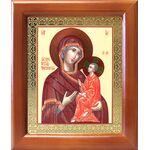 Тихвинская икона Божией Матери, деревянная рамка 12,5*14,5 см - Иконы