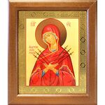 """Икона Божией Матери """"Умягчение злых сердец"""", рамка 19*22,5 см - Иконы"""