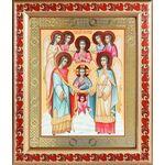 Собор Архангела Михаила, икона в широкой рамке с узором 19*22,5 - Иконы