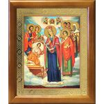 """Икона Богородицы """"Целительница"""" и святые врачеватели, рамка 17,5*20,5 - Иконы"""