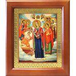 """Икона Богородицы """"Целительница"""" и святые врачеватели, рамка 12,5*14,5 - Иконы"""